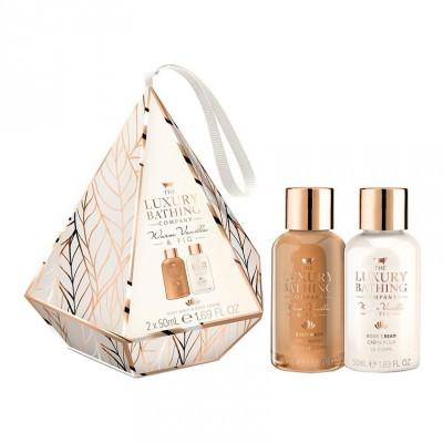 The Luxury Bathing Company Warm Vanilla & Fig Beauty Bliss Gift Set 2 x 50 ml