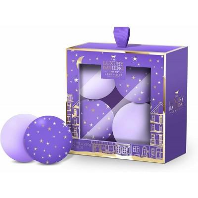 The Luxury Bathing Company Sleep Tight Lavender Bath Fizzers Gift Set 4 x 50 g