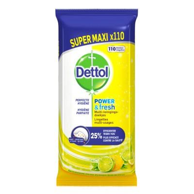 Dettol Multi-Purpose Wipes Power & Fresh Citrus 110 pcs