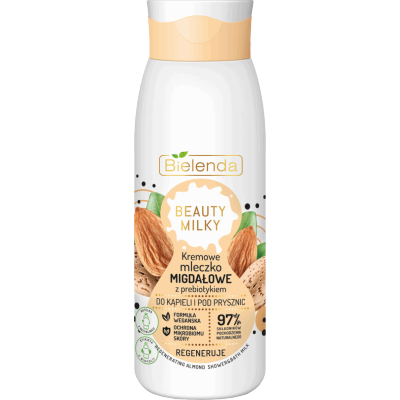 Bielenda Beauty Milky Creamy Almond Milk For Shower & Bath 400 ml