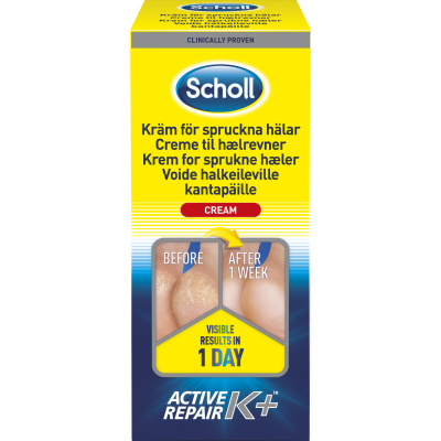Scholl Active Repair K+ Cracked Heel Cream 120 ml
