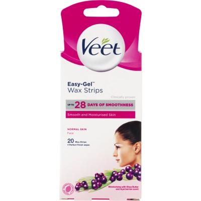 Veet Easy-Gel Cold Wax Strips Face 20 stk