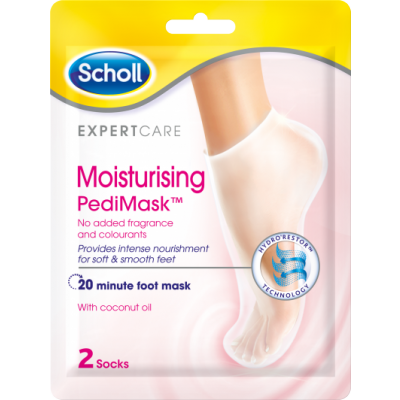Scholl Moisturising Pedimask No Perfume 1 pair