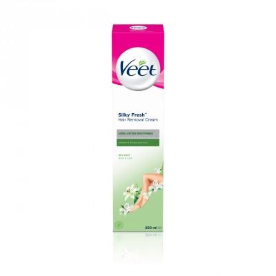 Veet Silky Fresh Hair Removal Cream Dry Skin Body & Legs 200 ml
