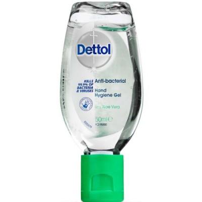 Dettol Hand Sanitiser Gel Aloe Vera 50 ml