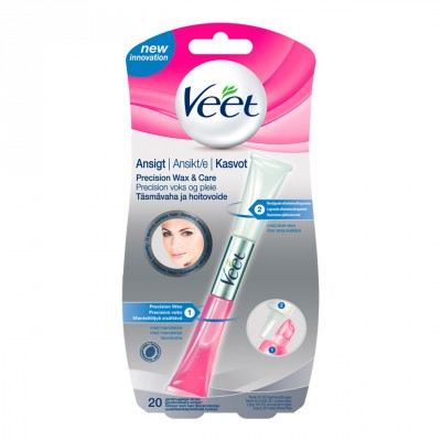 Veet Face Precision Wax & Care Set 10 ml + 5 ml + 20 stk + 1 stk