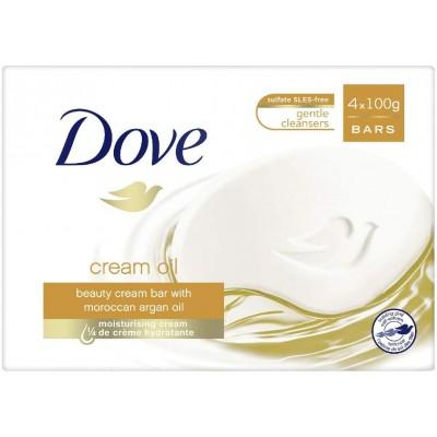 Dove Creme Oil Soap Bars Argan Oil 4 x 100 g
