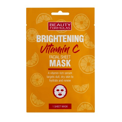 Beauty Formulas Brightening Vitamin C Facial Sheet Mask 1 st