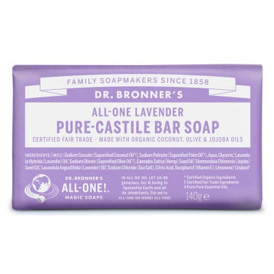 Dr. Bronner's Bar Soap Lavender 140 g