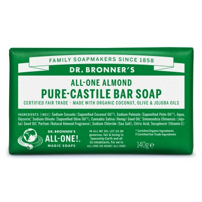 Dr. Bronner's Bar Soap Almond 140 g
