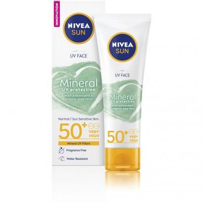 Nivea Sun UV Face Mineral Sunscreen SPF50+ 50 ml