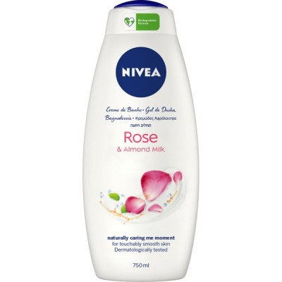 Nivea Rose & Almond Milk Shower Gel 750 ml
