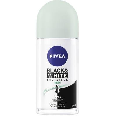 Nivea Invisible Black & White Fresh Roll On Deo 50 ml