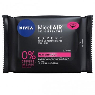 Nivea Micellair Expert Make-Up Remover Wipes 20 st