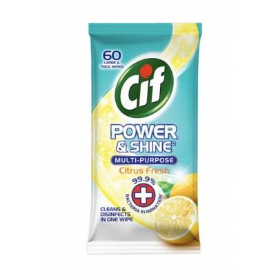 Cif Power & Shine Multi Purpose Wipes Citrus 60 st