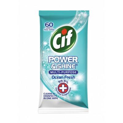 Cif Power & Shine Multi Purpose Wipes Ocean Fresh 60 st