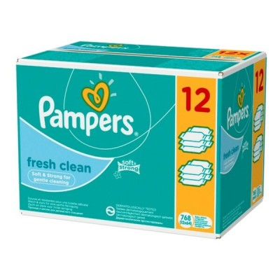 Pampers Fresh Baby Wipes Mega Pack 12 x 52 st