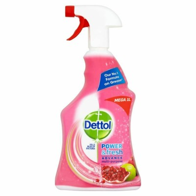 Dettol Power & Fresh Multi-Purpose Cleaning Spray Pomegranate 1000 ml
