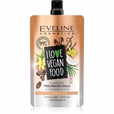 Eveline I Love Vegan Food Vanilla Latte Body Scrub 75 ml