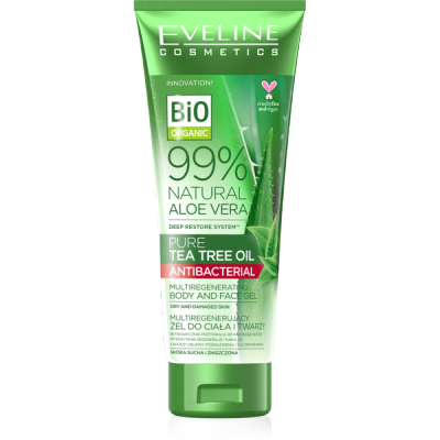 Eveline 99% Natural Aloe Vera Tea Tree Oil Body & Face Gel 250 ml