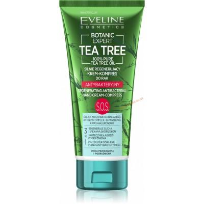 Eveline Botanic Expert Tea Tree Oil SOS Regenerating Antibacterial Hand Cream Compress 100 ml