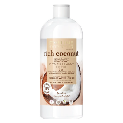 Eveline Rich Coconut Moisturizing Coconut Micellar Water & Toner 500 ml