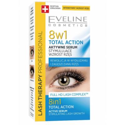 Eveline Lash Therapy 8in1 Total Action Eyelash Serum 3 ml
