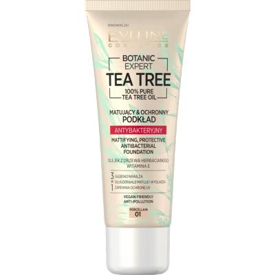 Eveline Botanic Expert Tea Tree Antibacterial Foundation 01 Porcelain 30 ml