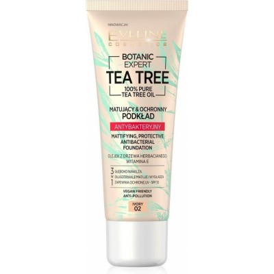 Eveline Botanic Expert Tea Tree Antibacterial Foundation 02 Ivory 30 ml