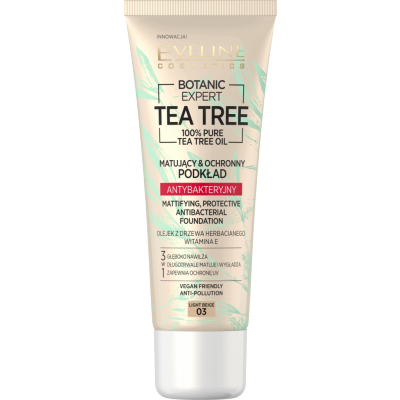 Eveline Botanic Expert Tea Tree Antibacterial Foundation 03 Light Beige 30 ml