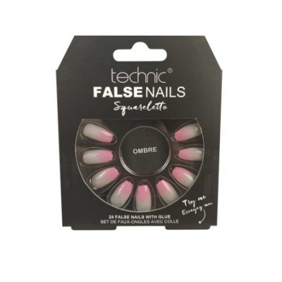 Technic False Nails Squareletto Ombre 24 pcs