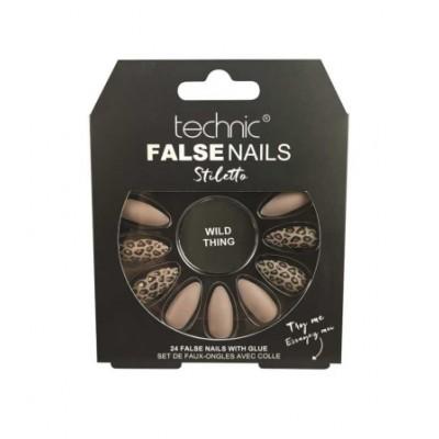 Technic False Nails Stiletto Wild Thing 24 pcs