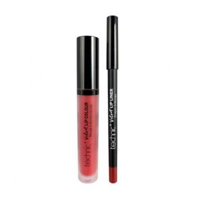 Technic Lip Kit Velvet Vintage Red 2 kpl