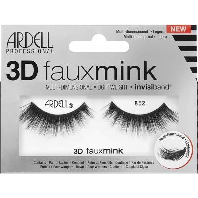 Ardell 3D Faux Mink False Eye Lashes Black 852 1 par