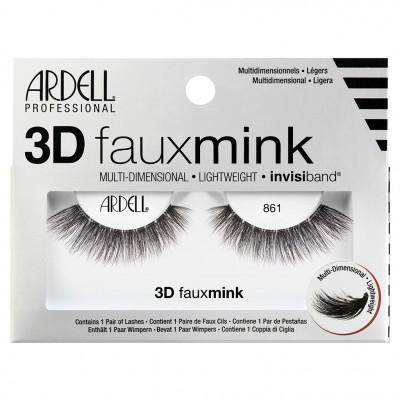 Ardell 3D Faux Mink False Eye Lashes Black 861 1 pair