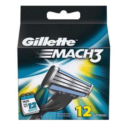 Image of   Gillette Mach3 Barberblade 12 stk