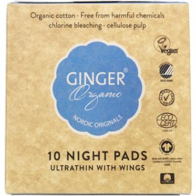 Ginger Organic Natbind Med Vinger 10 stk
