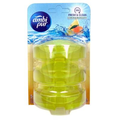 Ambi Pur Flush Liquid Refill Lemon & Mandarin 3 x 55 ml