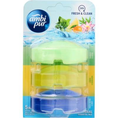 Ambi Pur Flush Liquid Refill Fresh & Clean Mix 3 x 55 ml