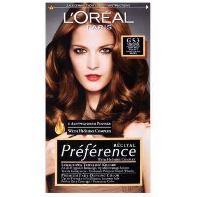 L'Oreal Preference G 5.3 Virginie Light Golden Brown 1 stk