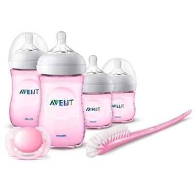 Philips Avent Natural Newborn Starter Set Pink 6 st