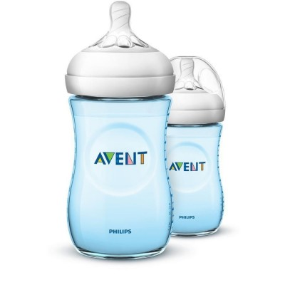 Philips Avent Natural Bottle 2.0 Blue Duo 2 x 260 ml
