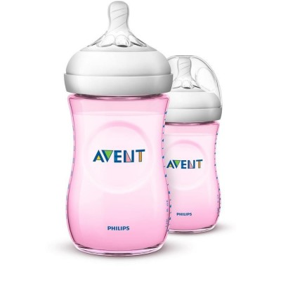 Philips Avent Natural Bottle 2.0 Pink Duo 2 x 260 ml