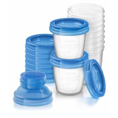 Philips Avent Breast Milk Storage Cups 10 x 180 ml