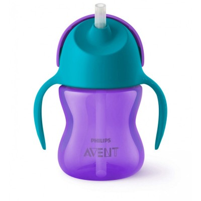 Philips Avent Bendy Straw Cup Purple 200 ml