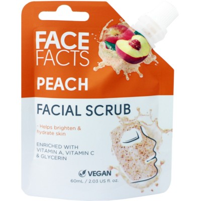Face Facts Facial Scrub Peach 60 ml
