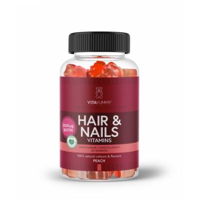 VitaYummy Hair & Nails Vitamins Peach 60 stk