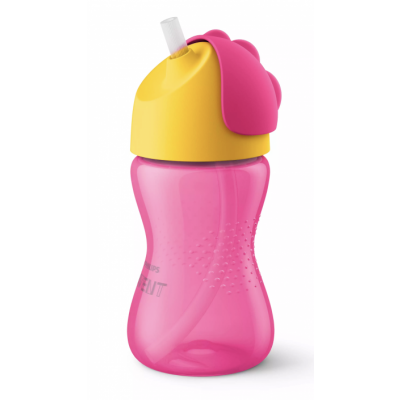 Philips Avent Bendy Straw Cup Pink 300 ml