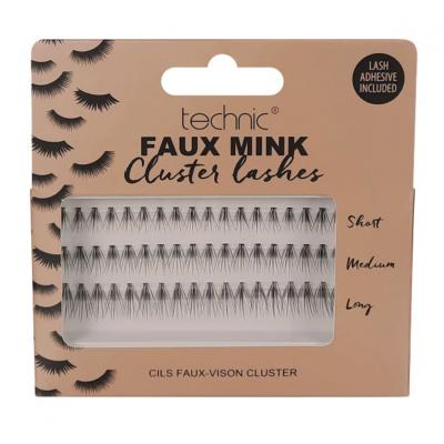 Technic Faux Mink Individual Cluster Lashes 54 pcs