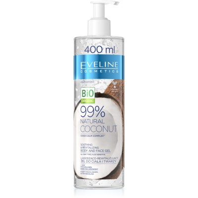 Eveline 99% Natural Coconut Smoothing & Revitalizing Body & Face Gel 400 ml